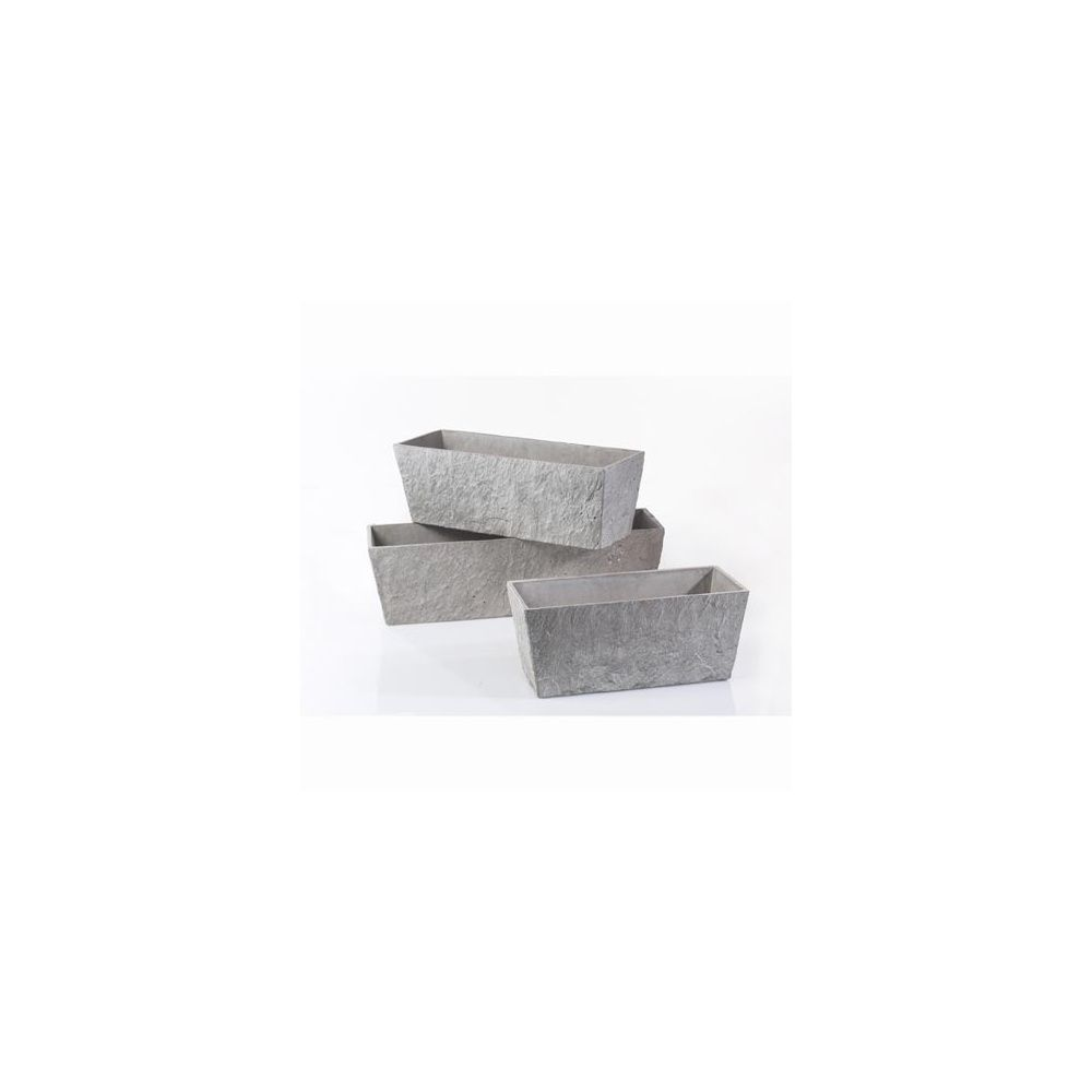jardini re fibre de ciment longueur 60 cm gris clair. Black Bedroom Furniture Sets. Home Design Ideas
