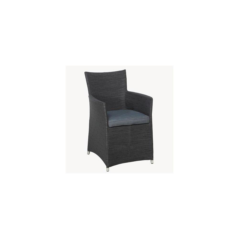 fauteuil de jardin en textil ne et structure en aluminium avec coussin anthracite lot de 2. Black Bedroom Furniture Sets. Home Design Ideas