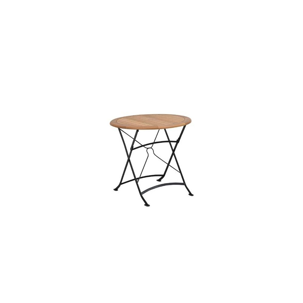table pliante ronde costa diam tre 80 cm plantes et jardins. Black Bedroom Furniture Sets. Home Design Ideas