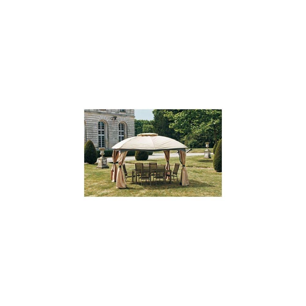 tonnelle de jardin andalou 3 x 3 65 m avec rideaux et moustiquaires inclus plantes et jardins. Black Bedroom Furniture Sets. Home Design Ideas