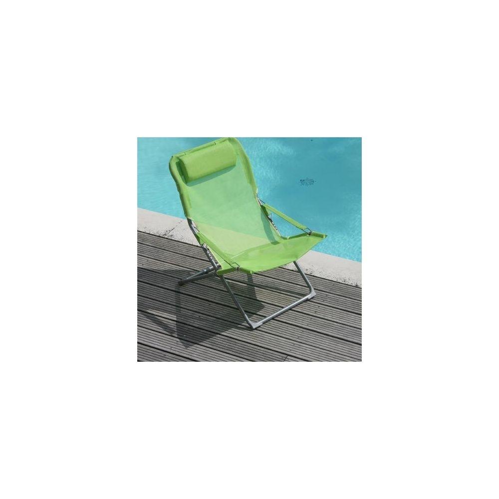 fauteuil relax pliant et r glable citron vert lot de 2 plantes et jardins. Black Bedroom Furniture Sets. Home Design Ideas