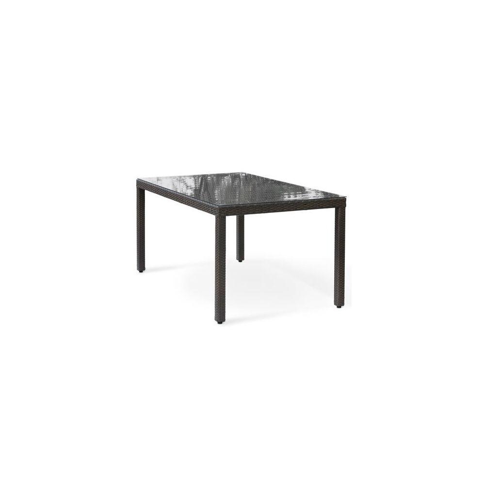 Table de jardin en résine tressée wicker 180 cm 6 personnes ...