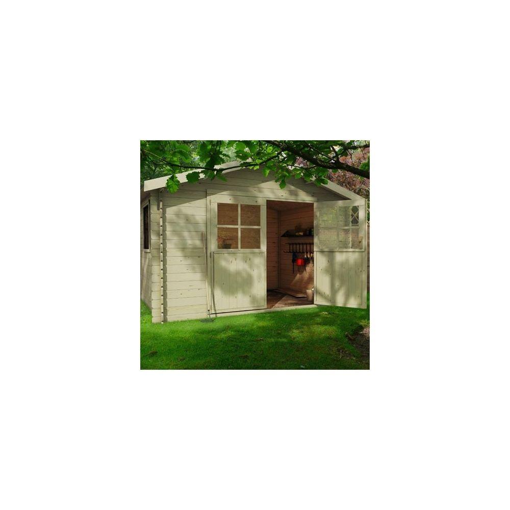 Abri de jardin solon m2 bois 28 mm plantes et jardins for Abri de jardin 8 m2