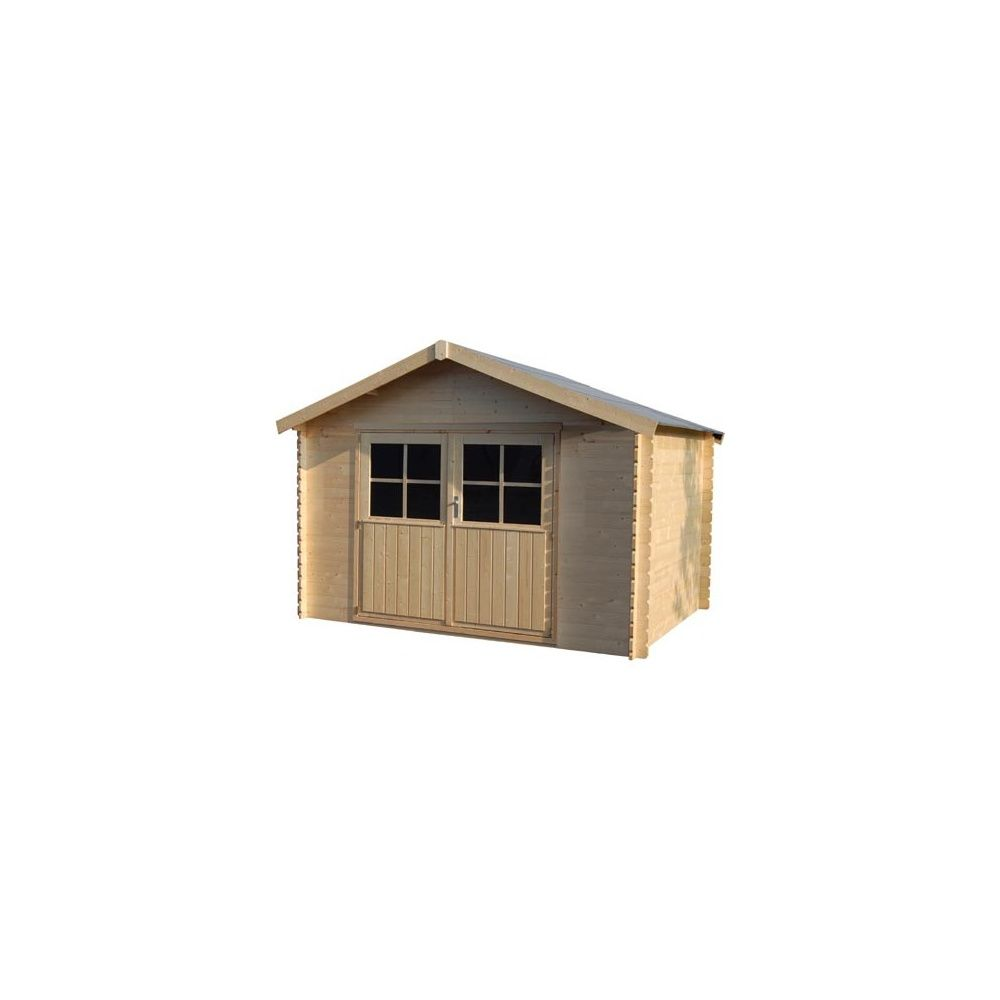 Abri de jardin valodeal hors tout bois 34 mm for Abri de jardin 34mm