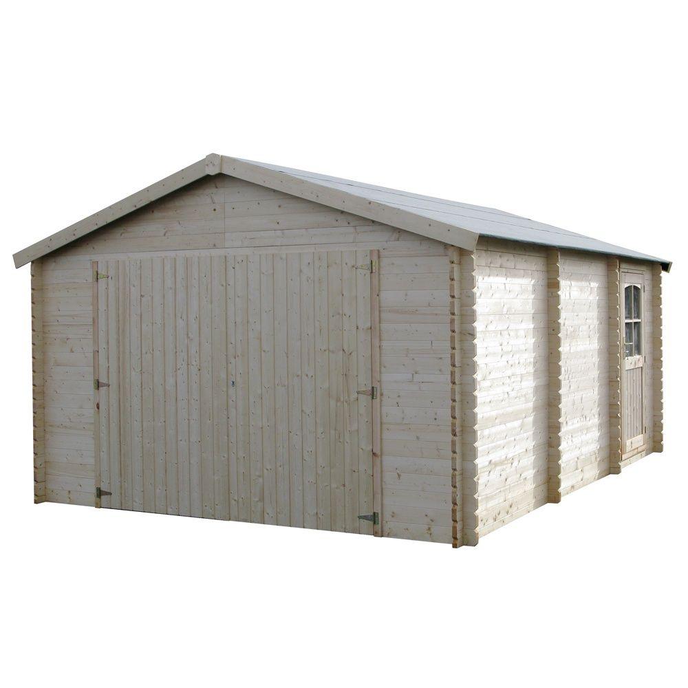 garage bois garodeal 21 04 m ep 34 mm plantes et jardins. Black Bedroom Furniture Sets. Home Design Ideas