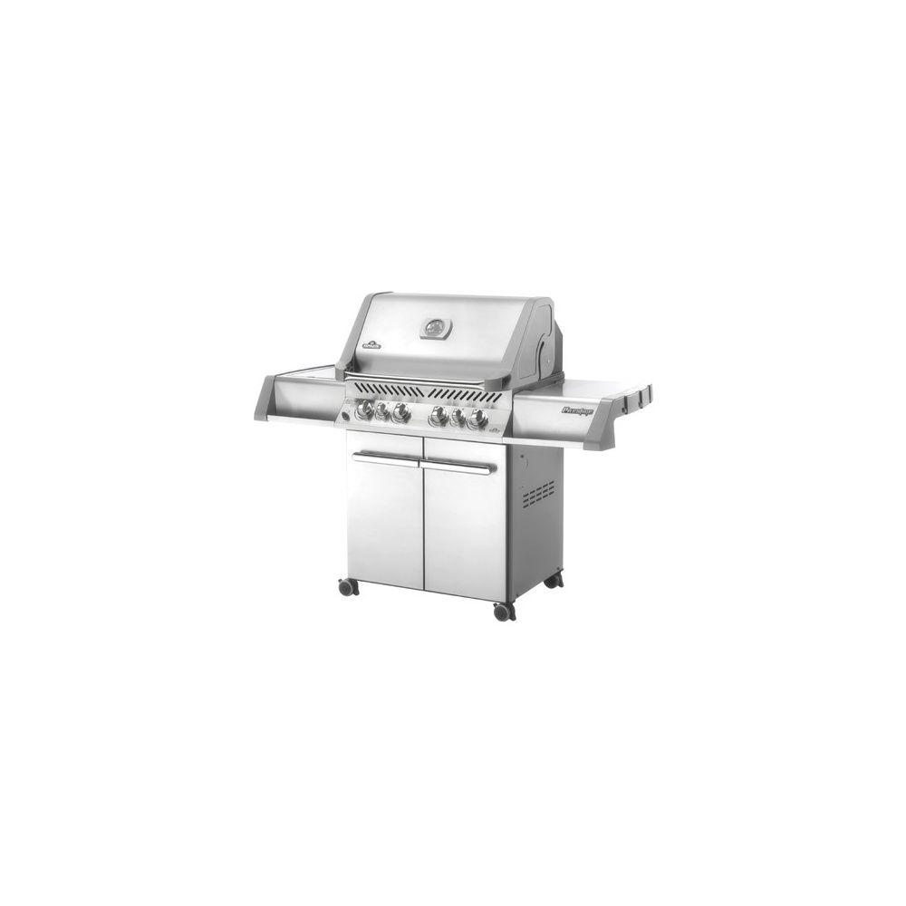 Barbecue gaz napoleon prestige p500rsib 4 br leurs 2 infrarouges plan - Barbecue infrarouge gaz ...
