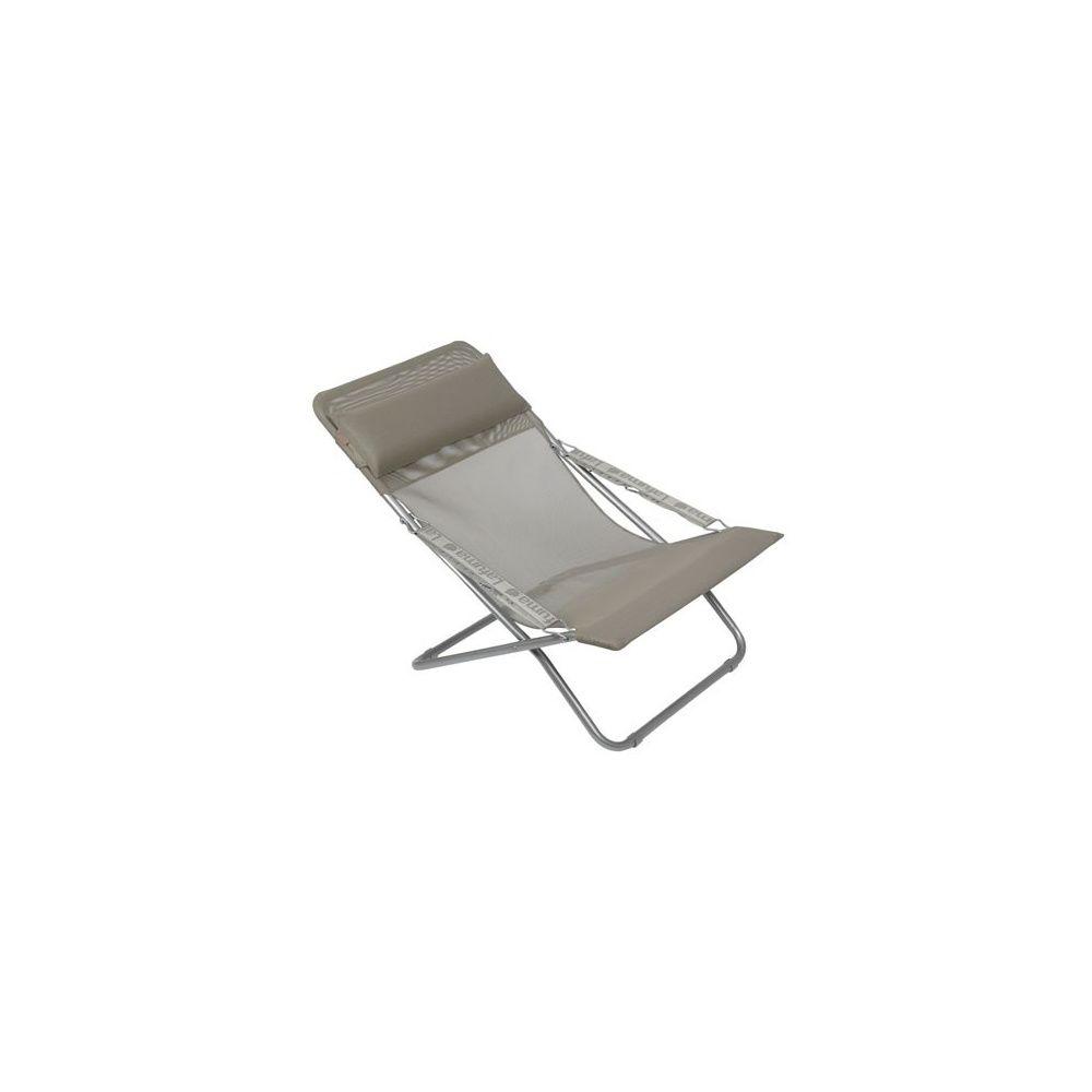 chaise longue pliante 39 seigle 39 transabed xl plus lafuma plantes et jardins. Black Bedroom Furniture Sets. Home Design Ideas