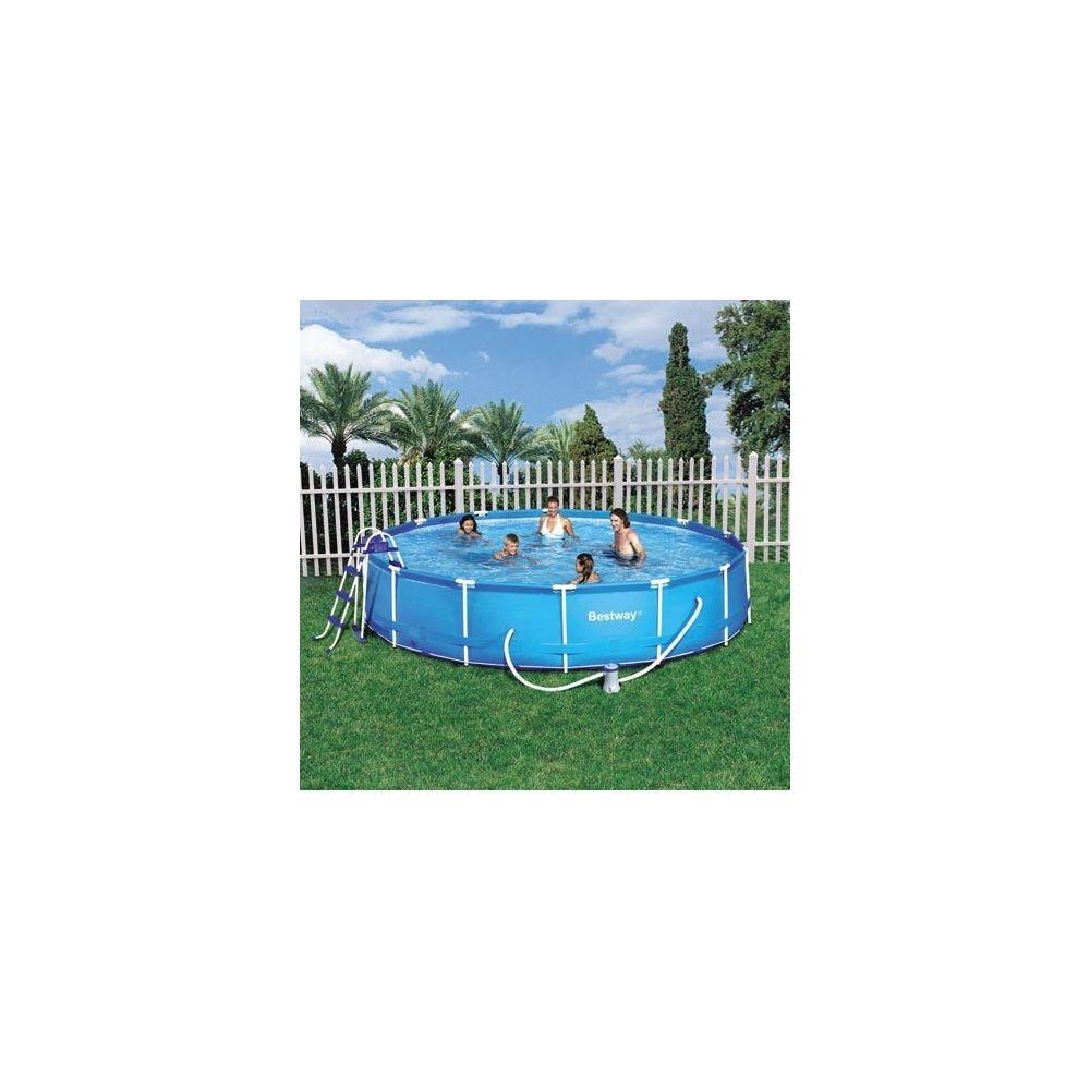 piscine steel pro frame pool bestway d 4 57 x 0 91 m. Black Bedroom Furniture Sets. Home Design Ideas