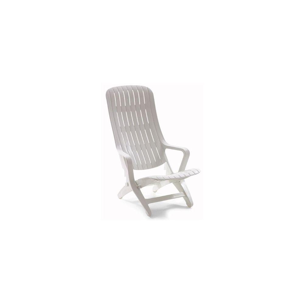 Fauteuil relax blanc avec 3 positions de dossier lot de 2 plantes et jardins - Fauteuil relax blanc ...