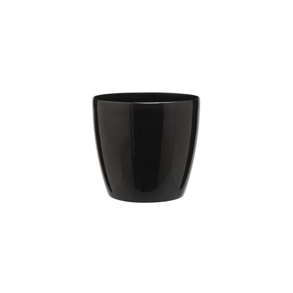 option cache pot brussels noir diam tre 18 cm plantes et jardins. Black Bedroom Furniture Sets. Home Design Ideas