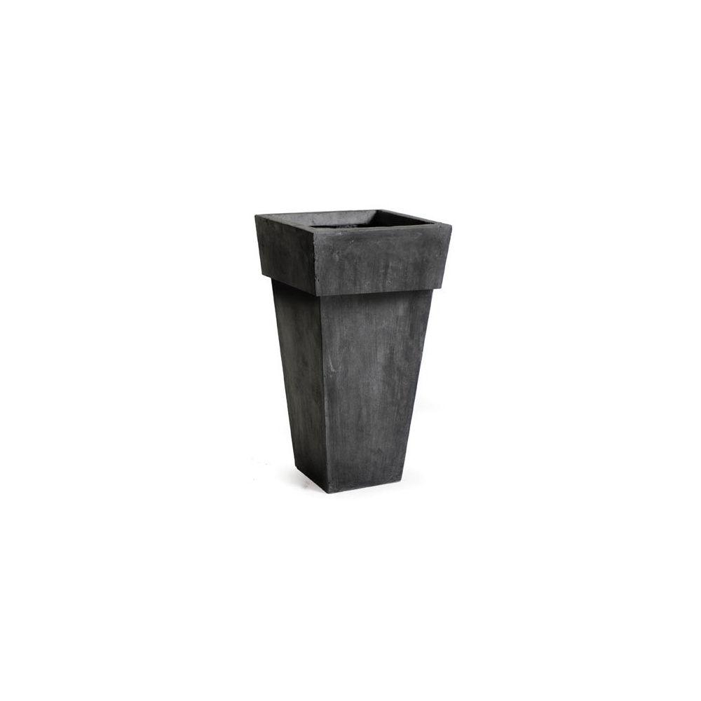 pot carr haut 159 litres 41 x hauteur 90 cm fibre de terre noir plantes et jardins. Black Bedroom Furniture Sets. Home Design Ideas