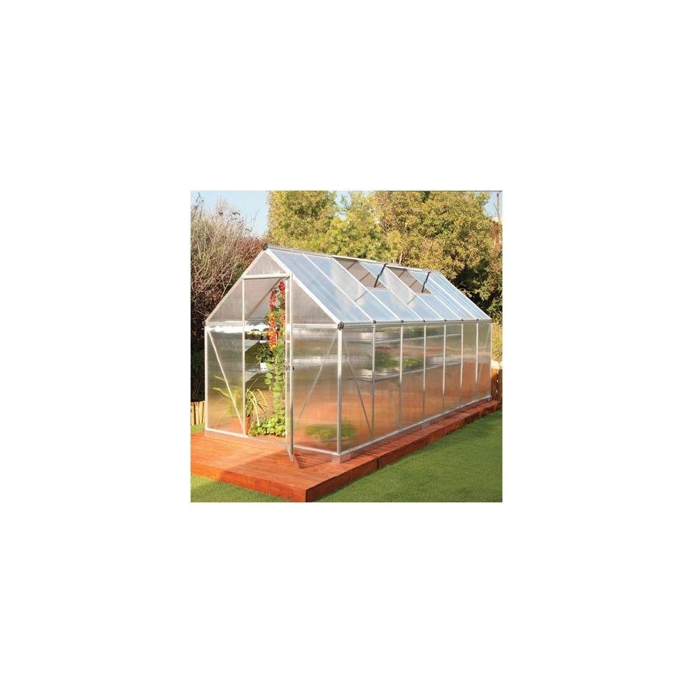 serre de jardin mythos 8 m2 polycarbonate double paroi embase plantes et jardins. Black Bedroom Furniture Sets. Home Design Ideas