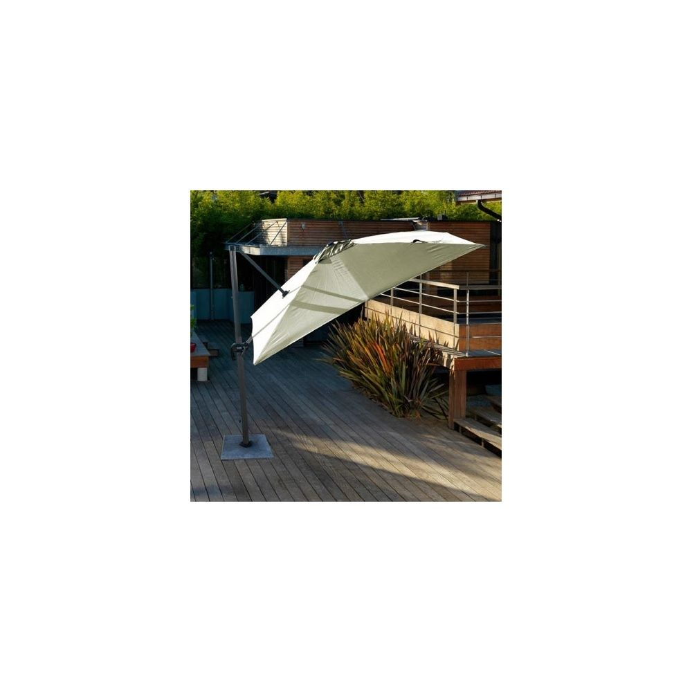 Parasol d port orientable rotation 360 3 3 m en - Parasol deporte orientable et inclinable ...