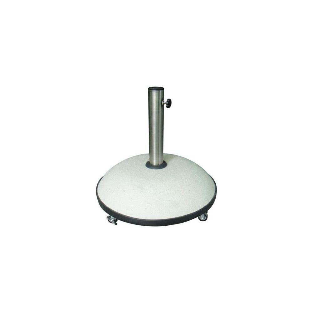 pied de parasol en granit de 20 kg sur roues plantes et jardins. Black Bedroom Furniture Sets. Home Design Ideas