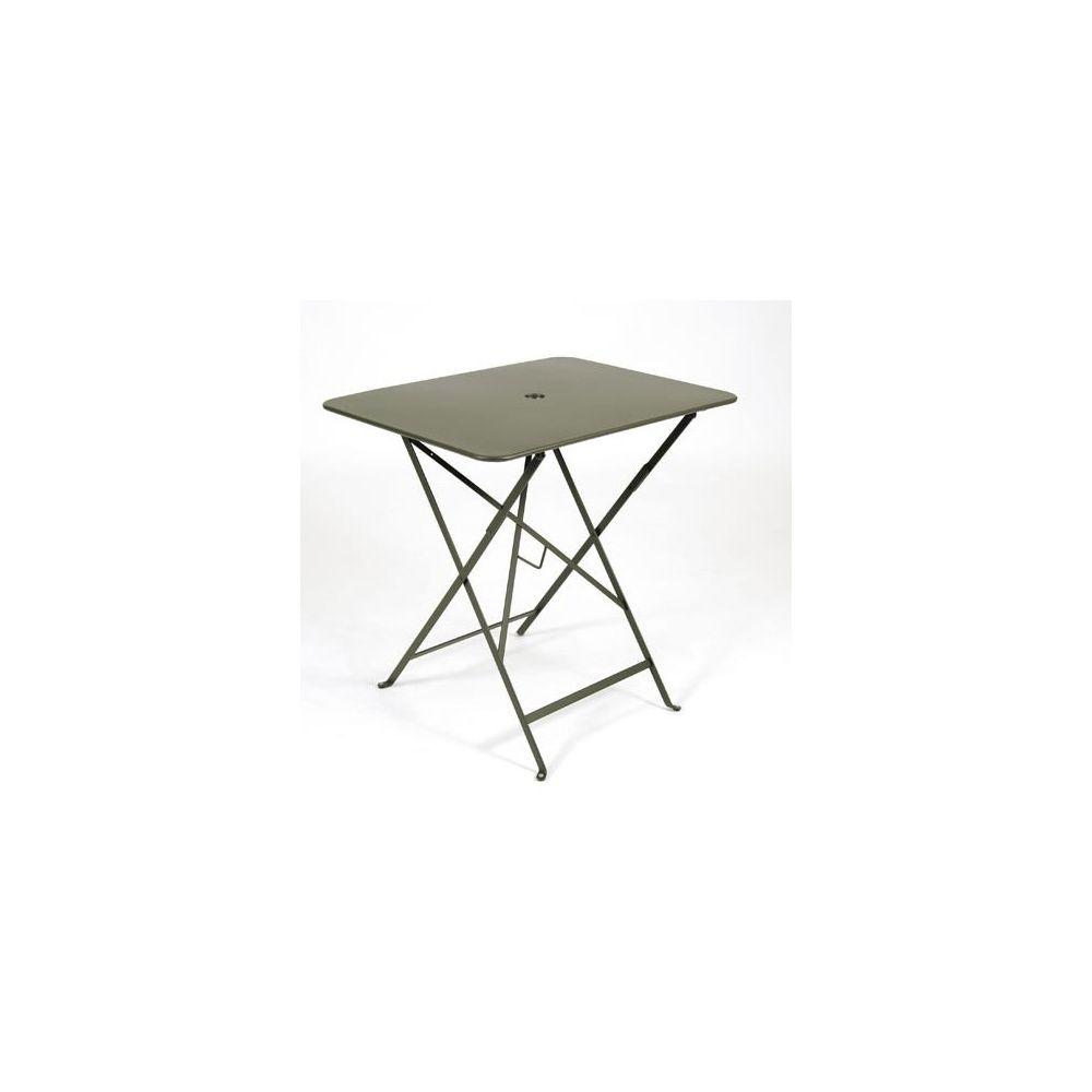table pliante rectangulaire 77 x 57 cm bistro savane fermob plantes et jardins. Black Bedroom Furniture Sets. Home Design Ideas