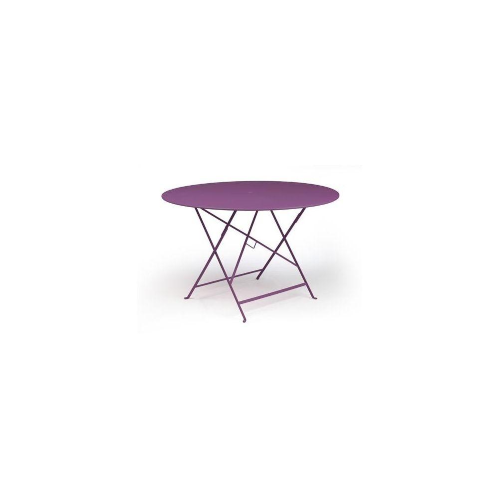 table pliante d117cm bistro aubergine fermob plantes et jardins. Black Bedroom Furniture Sets. Home Design Ideas