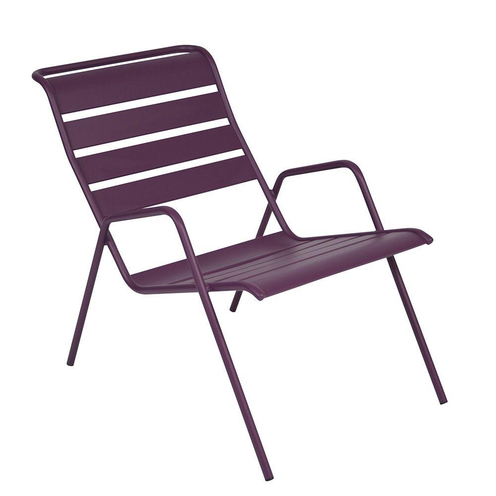 fauteuil bas fermob monceau acier aubergine plantes et jardins. Black Bedroom Furniture Sets. Home Design Ideas