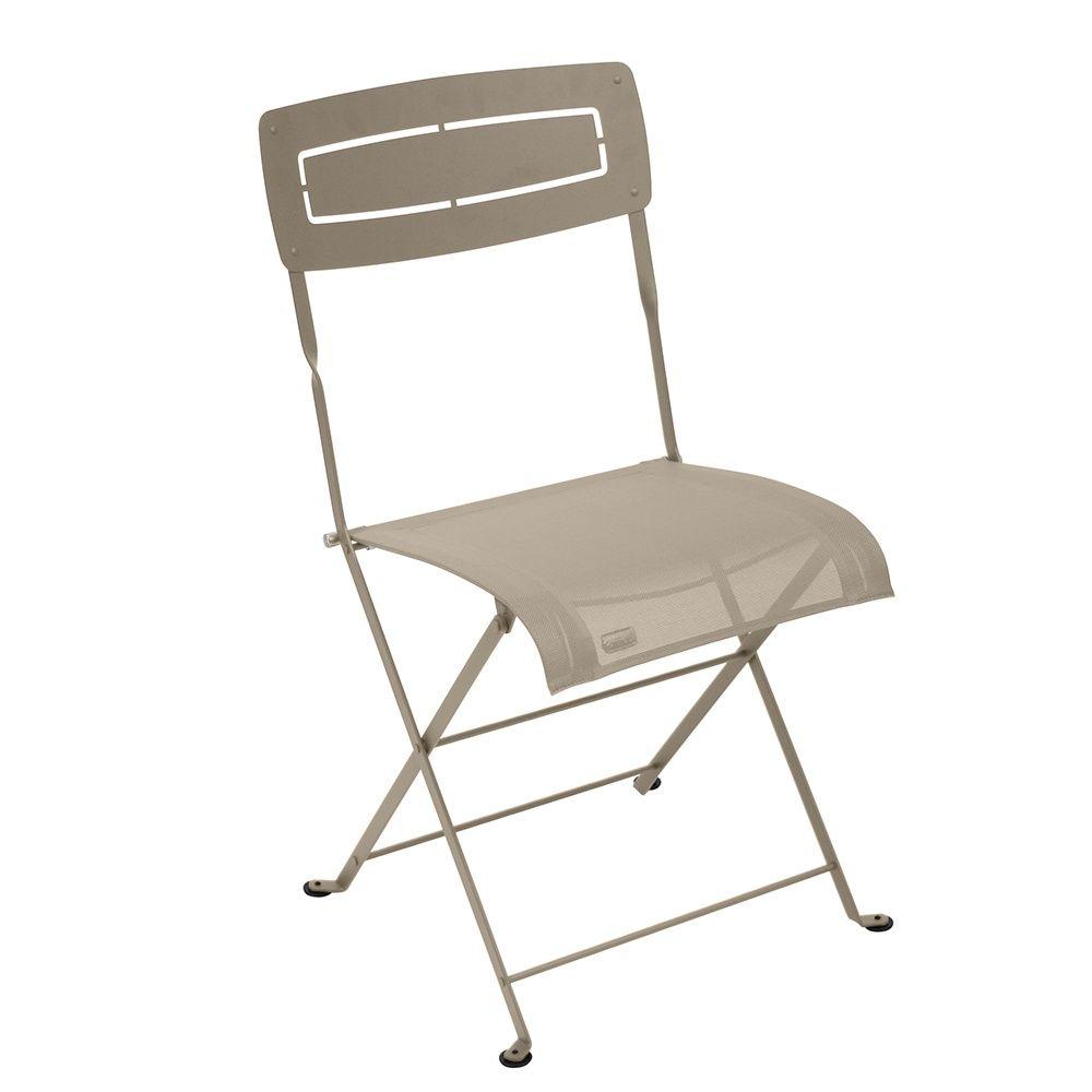 chaise pliante fermob slim acier textil ne muscade plantes et jardins. Black Bedroom Furniture Sets. Home Design Ideas