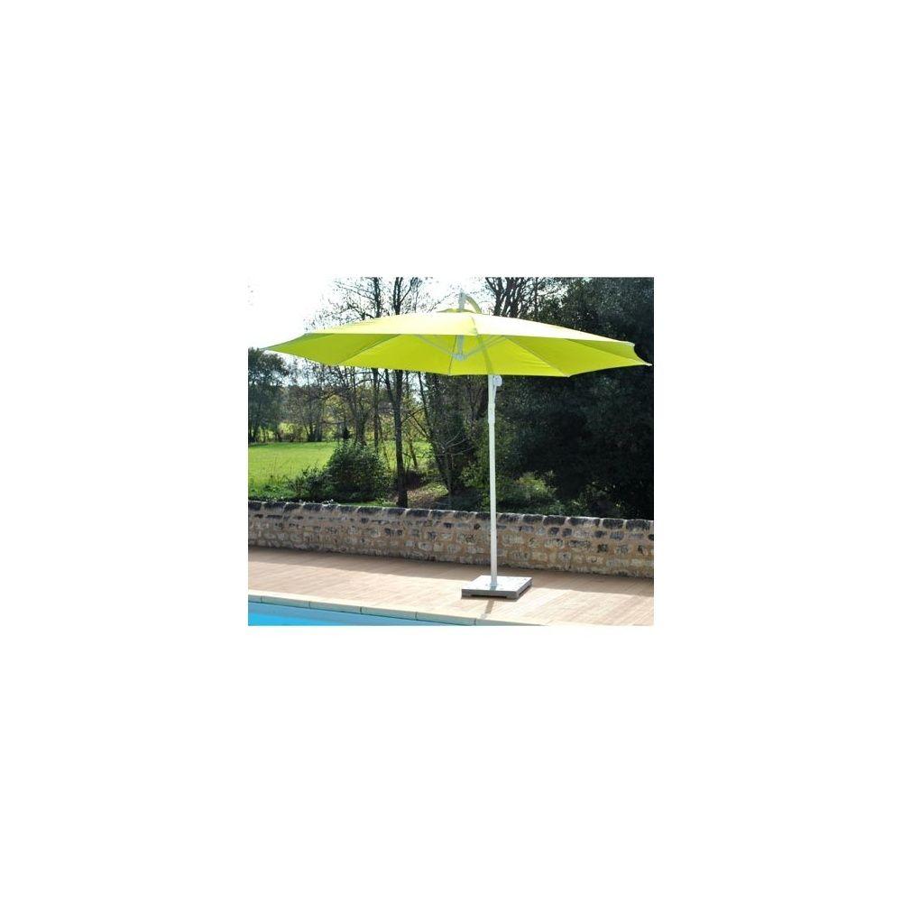Parasol d port orientable aluminium rotation 360 - Parasol deporte vert anis ...
