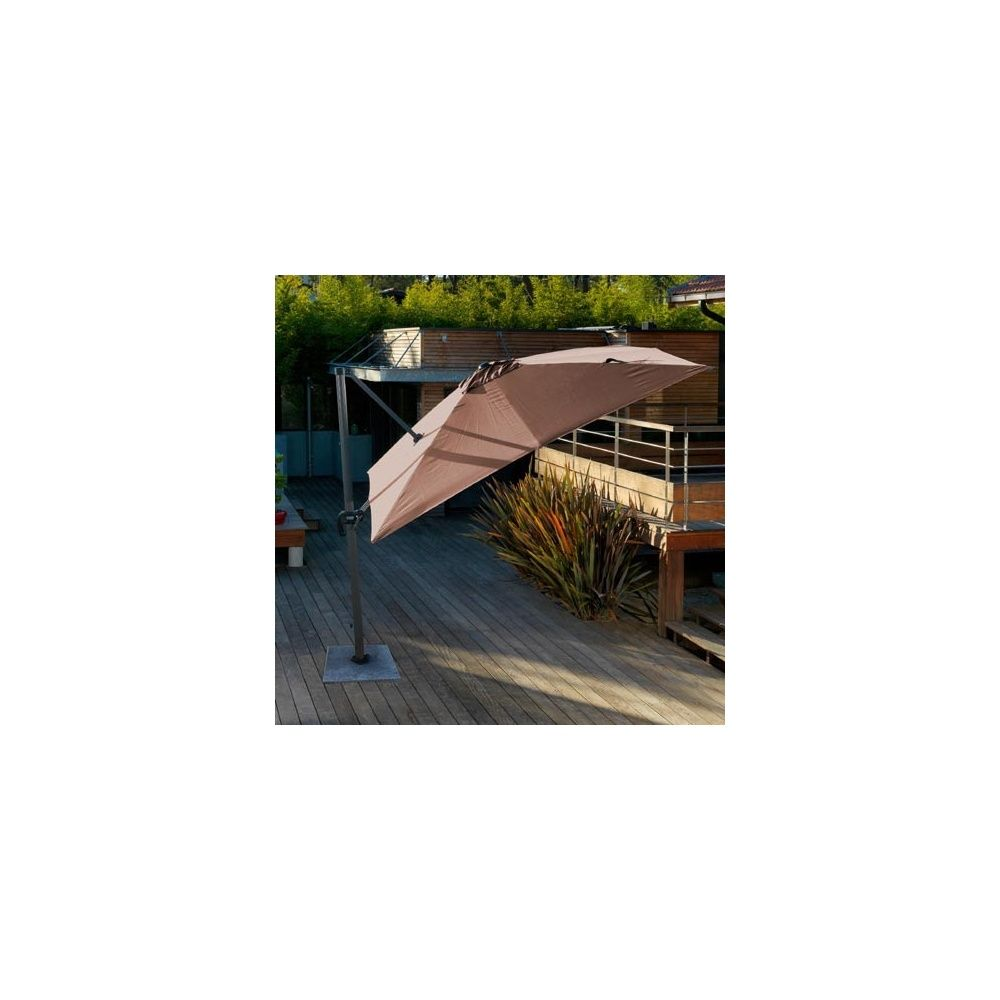 parasol d port orientable rotation 360 3 3 m aluminium. Black Bedroom Furniture Sets. Home Design Ideas