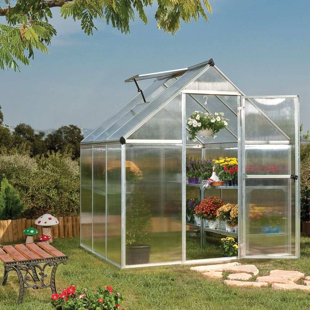 serre de jardin mythos polycarbonate embase palram plantes et jardins. Black Bedroom Furniture Sets. Home Design Ideas
