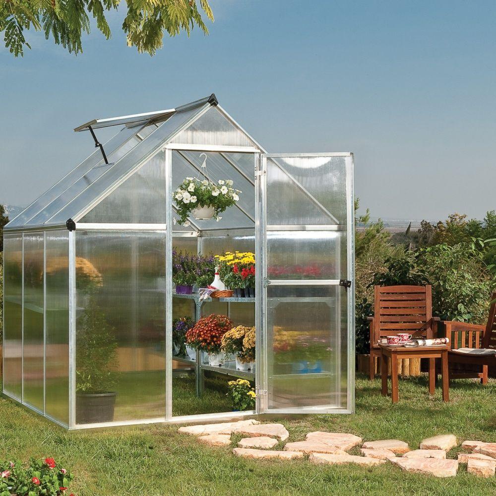 Serre de jardin mythos polycarbonate 5 70m2 embase for Jardin 70 m2