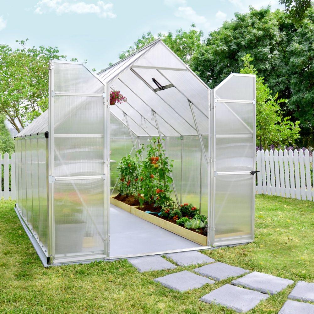 serre de jardin essence polycarbonate 8 80m2 embase. Black Bedroom Furniture Sets. Home Design Ideas