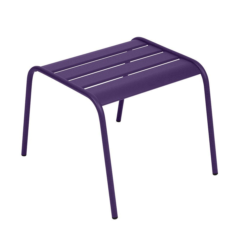 table basse repose pieds fermob monceau acier aubergine plantes et jardins. Black Bedroom Furniture Sets. Home Design Ideas