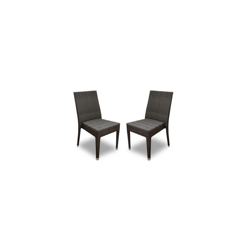 Chaise de jardin freiburg empilable en r sine tress e for Chaise de jardin resine tressee