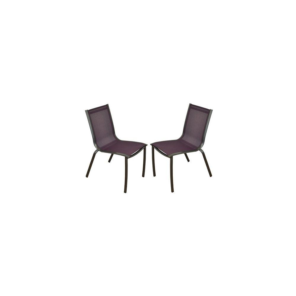 Chaise de jardin empilable linea en aluminium et textil ne for Chaise jardin aluminium textilene