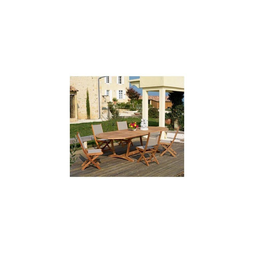 Table de jardin ovale nice en teck fsc avec allonge 200 300 x 120 cm plantes et jardins - Table jardin nice tours ...