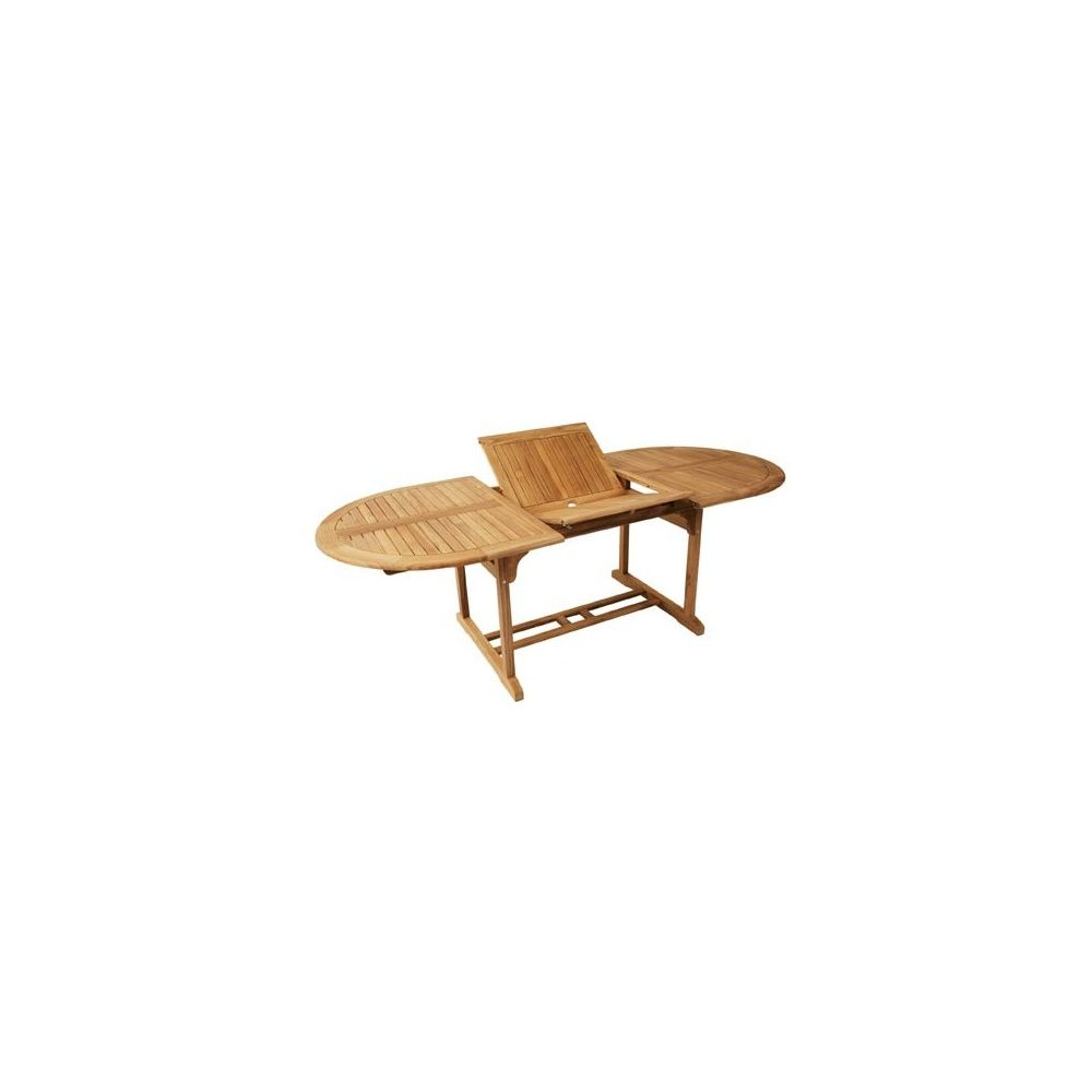 Table de jardin ovale oxford avec allonge en teck fsc for Table ovale avec allonges