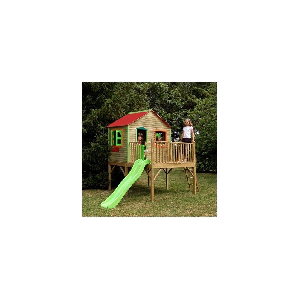 maisonnette pour enfants avec cabane et toboggan aurore. Black Bedroom Furniture Sets. Home Design Ideas