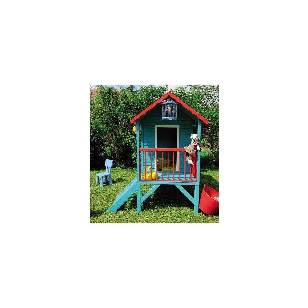 maisonnette en bois pour enfants sur pilotis lapinou jardipolys plantes et jardins. Black Bedroom Furniture Sets. Home Design Ideas