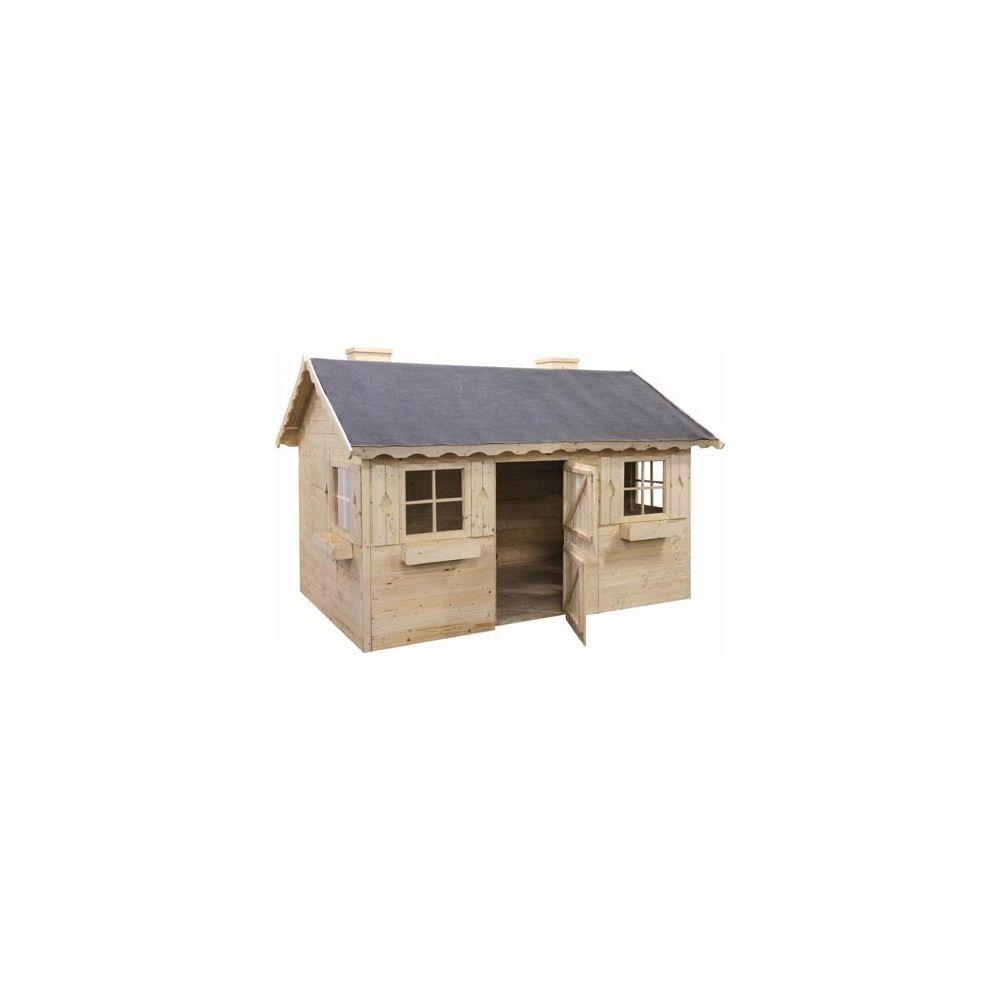 Maisonnette en bois brut pour enfants marmotte a peindre plantes et jardins - Maisonnettes pour enfants ...
