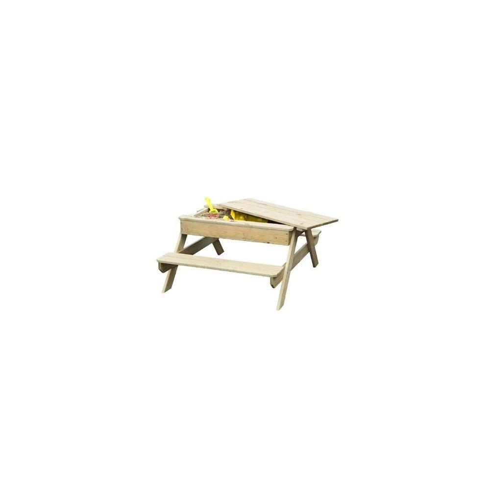 table pique nique avec bac sable int gr rosy park. Black Bedroom Furniture Sets. Home Design Ideas