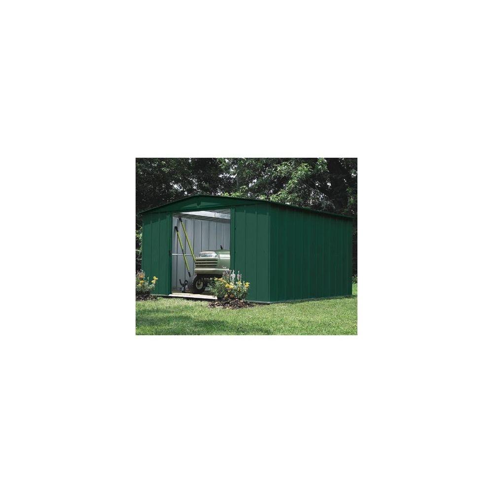 Abri de jardin en acier galvanis vert 9 3 m plantes et for Abri de jardin acier