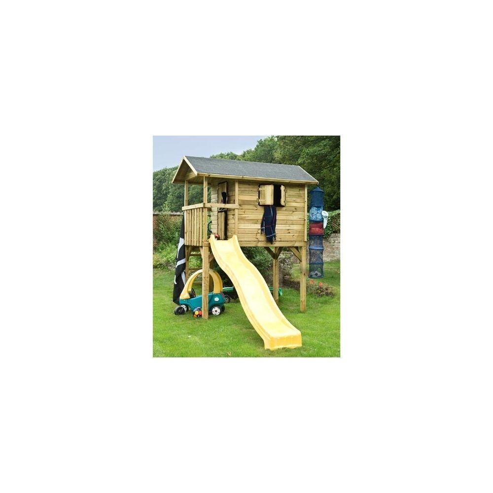 maisonnette bois pour enfants wistler park sur pilotis toboggan bear county plantes et jardins. Black Bedroom Furniture Sets. Home Design Ideas