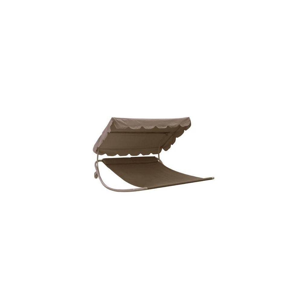 bain de soleil 2 places bascule avec roulettes taupe. Black Bedroom Furniture Sets. Home Design Ideas