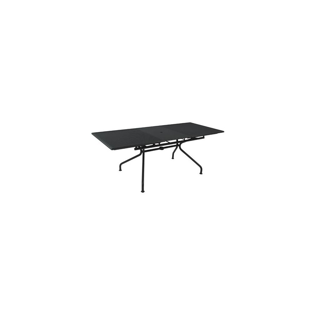 Table piano extensible 160 50 x 90 x 75 cm m tal for Table extensible 75 x 75