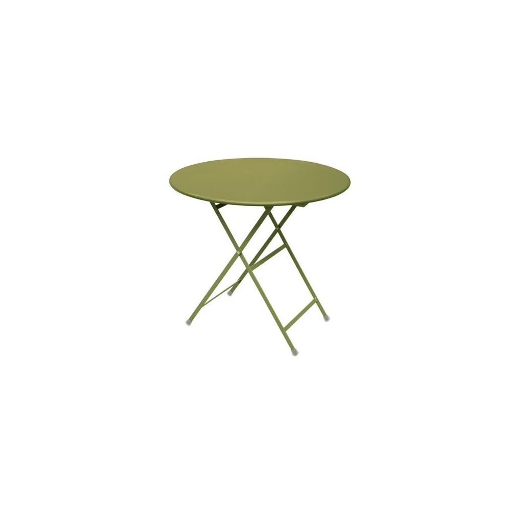 table ronde de jardin pliable arc en ciel d 80 cm en acier vernis vert emu plantes et jardins. Black Bedroom Furniture Sets. Home Design Ideas