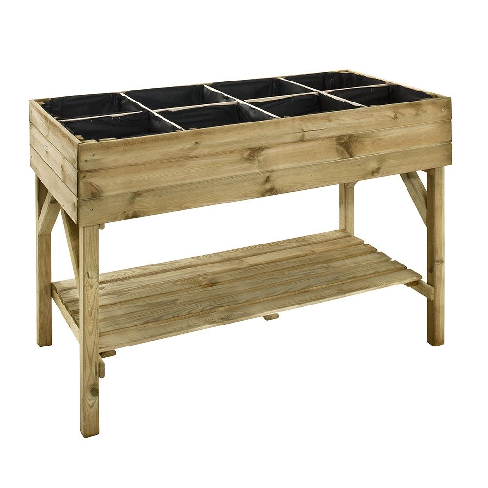 carr potager sur pieds l120 h86 5 cm bois trait gariguette plantes et jardins. Black Bedroom Furniture Sets. Home Design Ideas