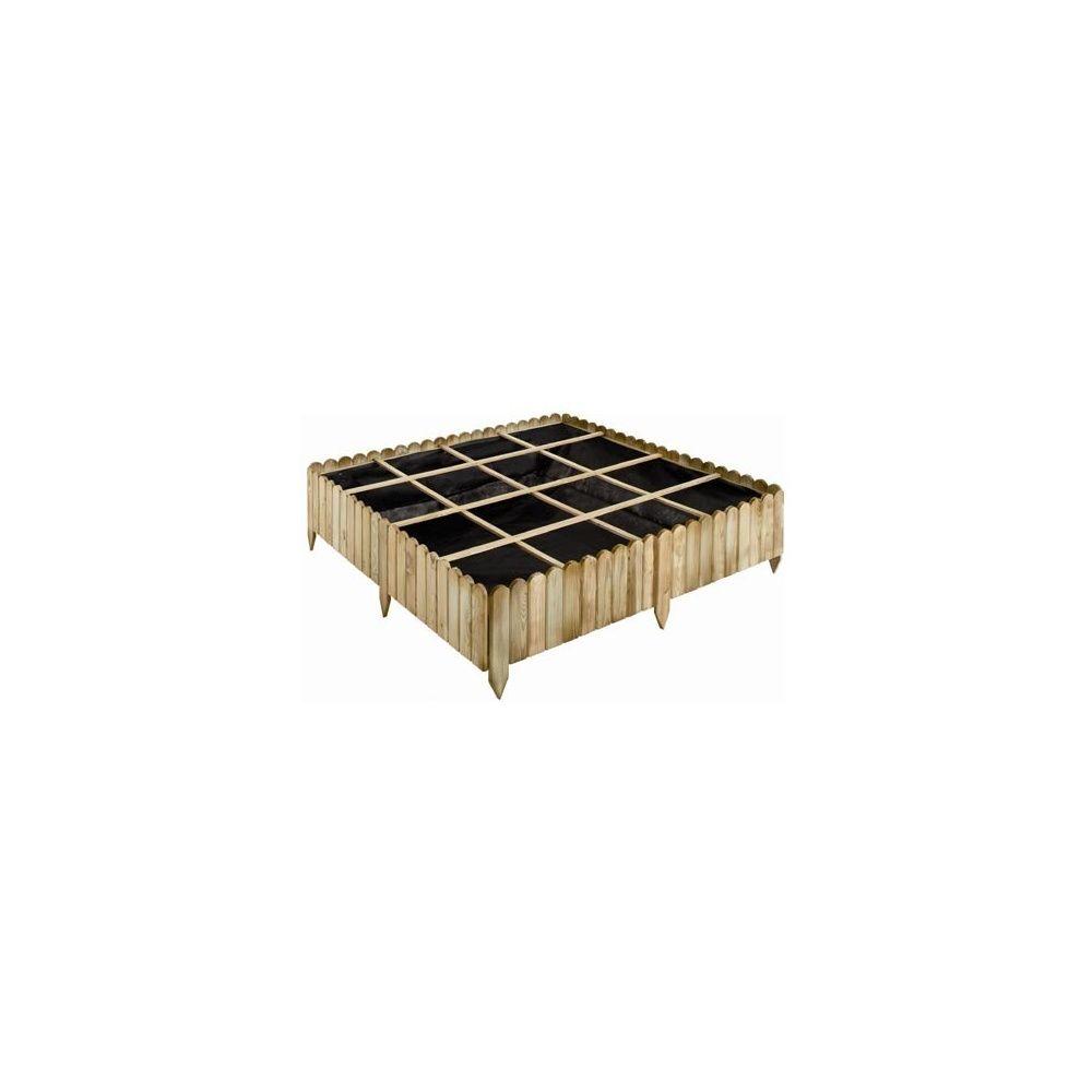carr potager patisson 120 x 120 cm pin autoclave fsc plantes et jardins. Black Bedroom Furniture Sets. Home Design Ideas
