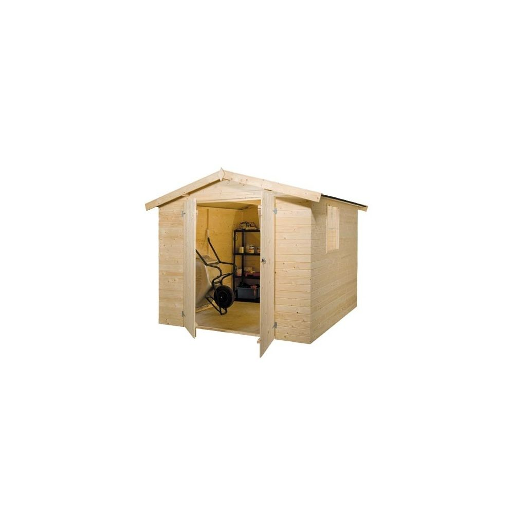 Abri de jardin 4 3 m bois 15mm non trait s bear county for Bear county abri de jardin