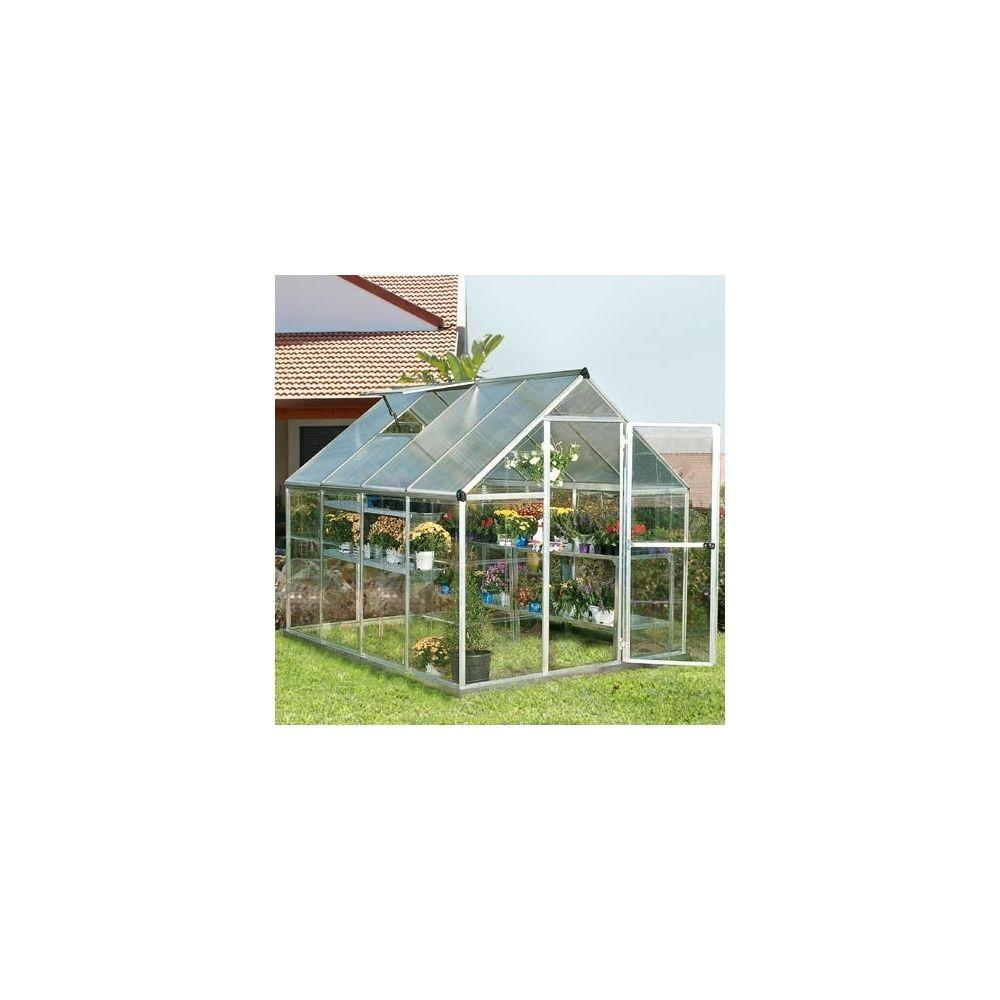 Serre polycarbonate nature 4 6 m2 chalet jardin plantes et jardins - Serre jardin polycarbonate ...