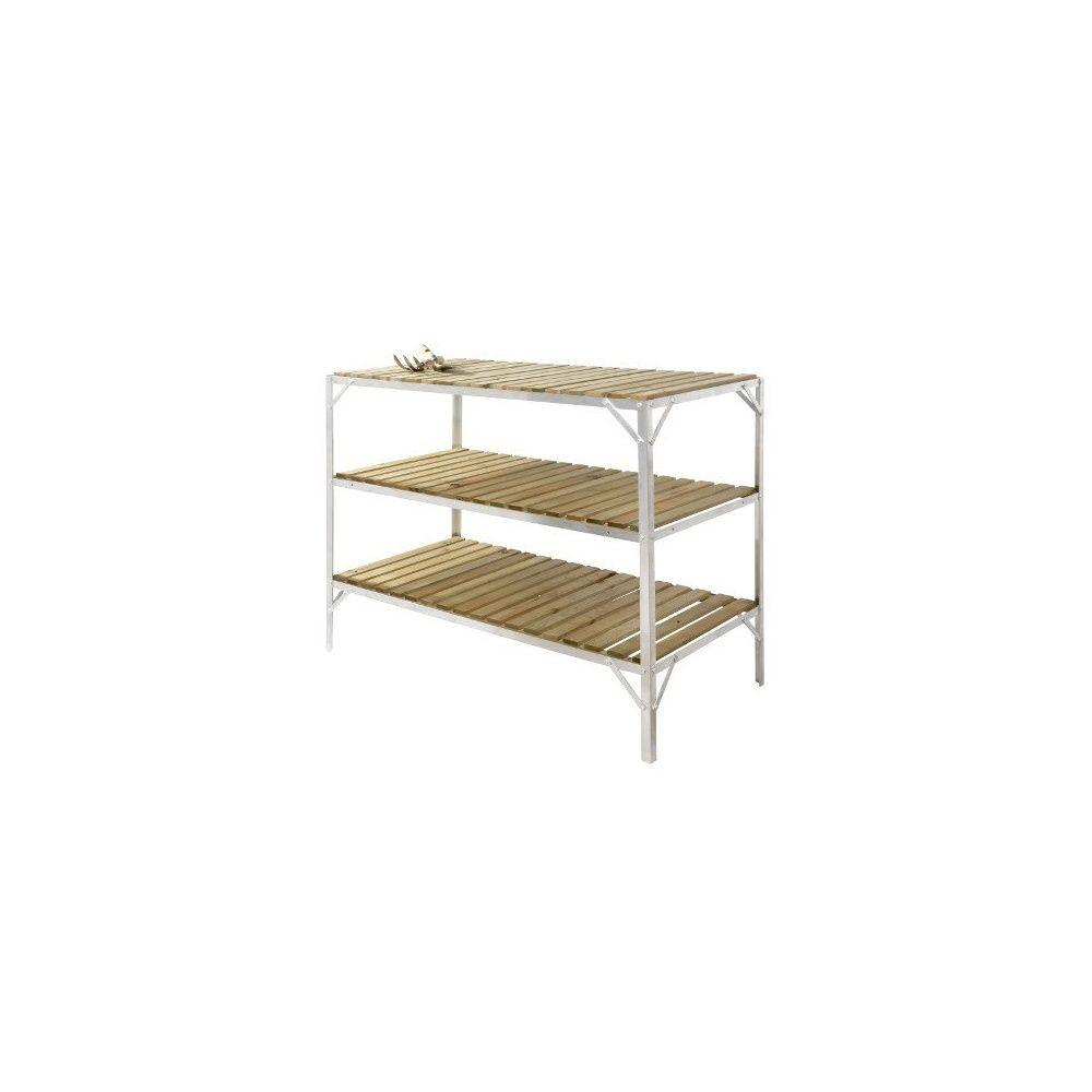 etagere bois pour euroserre 3 niveaux 458x1136mm plantes et jardins. Black Bedroom Furniture Sets. Home Design Ideas