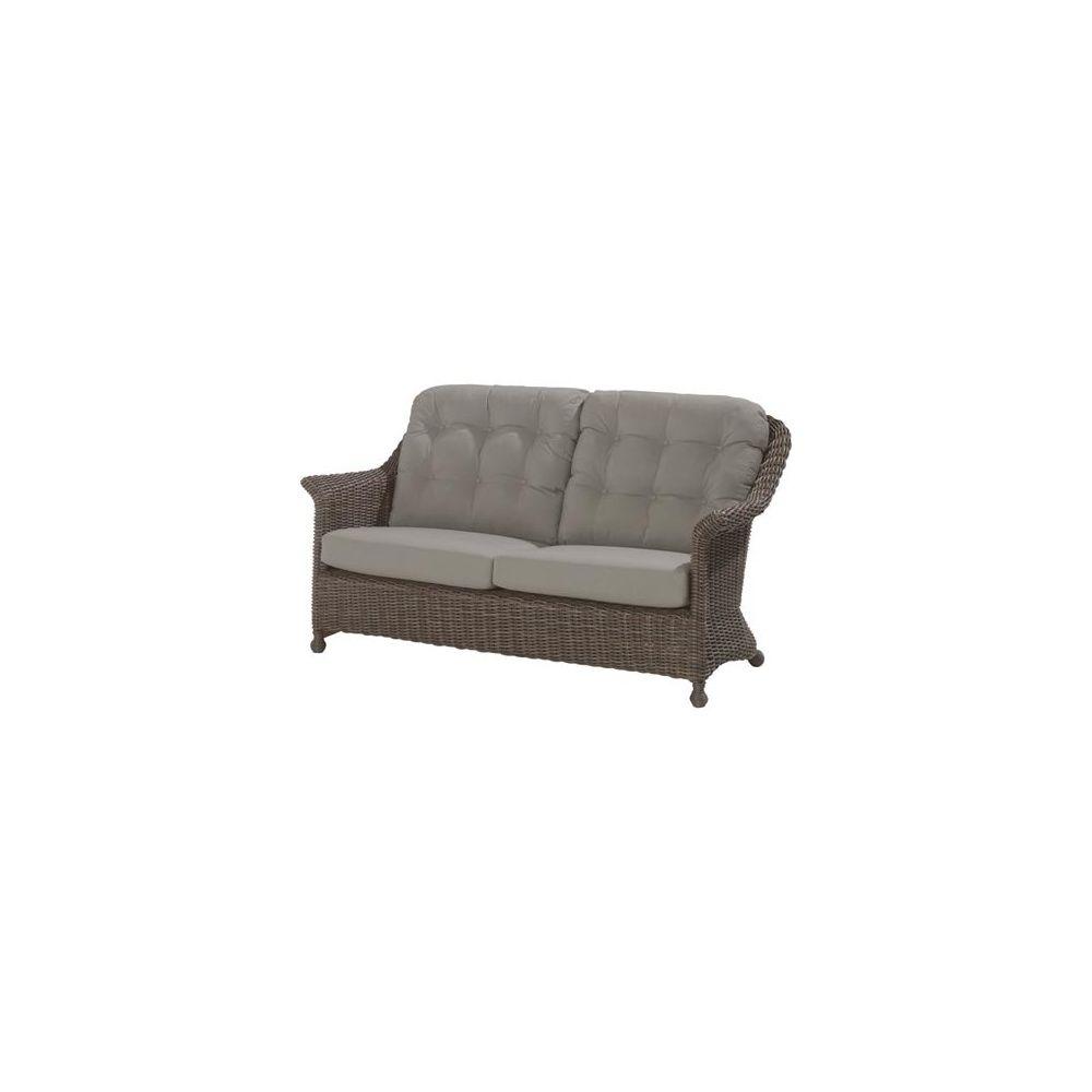 canap 2 places et demi madoera fibre hularo avec coussins 4so colonial plantes et jardins. Black Bedroom Furniture Sets. Home Design Ideas