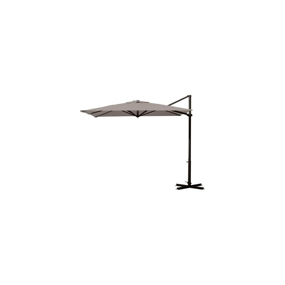 parasol d port carr 260x260cm inclinable et orientable riviera taupe plantes et jardins. Black Bedroom Furniture Sets. Home Design Ideas