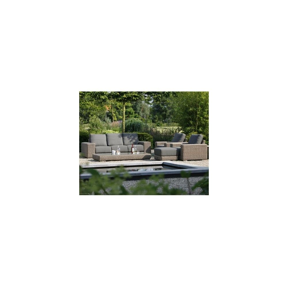 salon de jardin kingston canap 3 places 2 fauteuils repose pieds table basse plantes. Black Bedroom Furniture Sets. Home Design Ideas