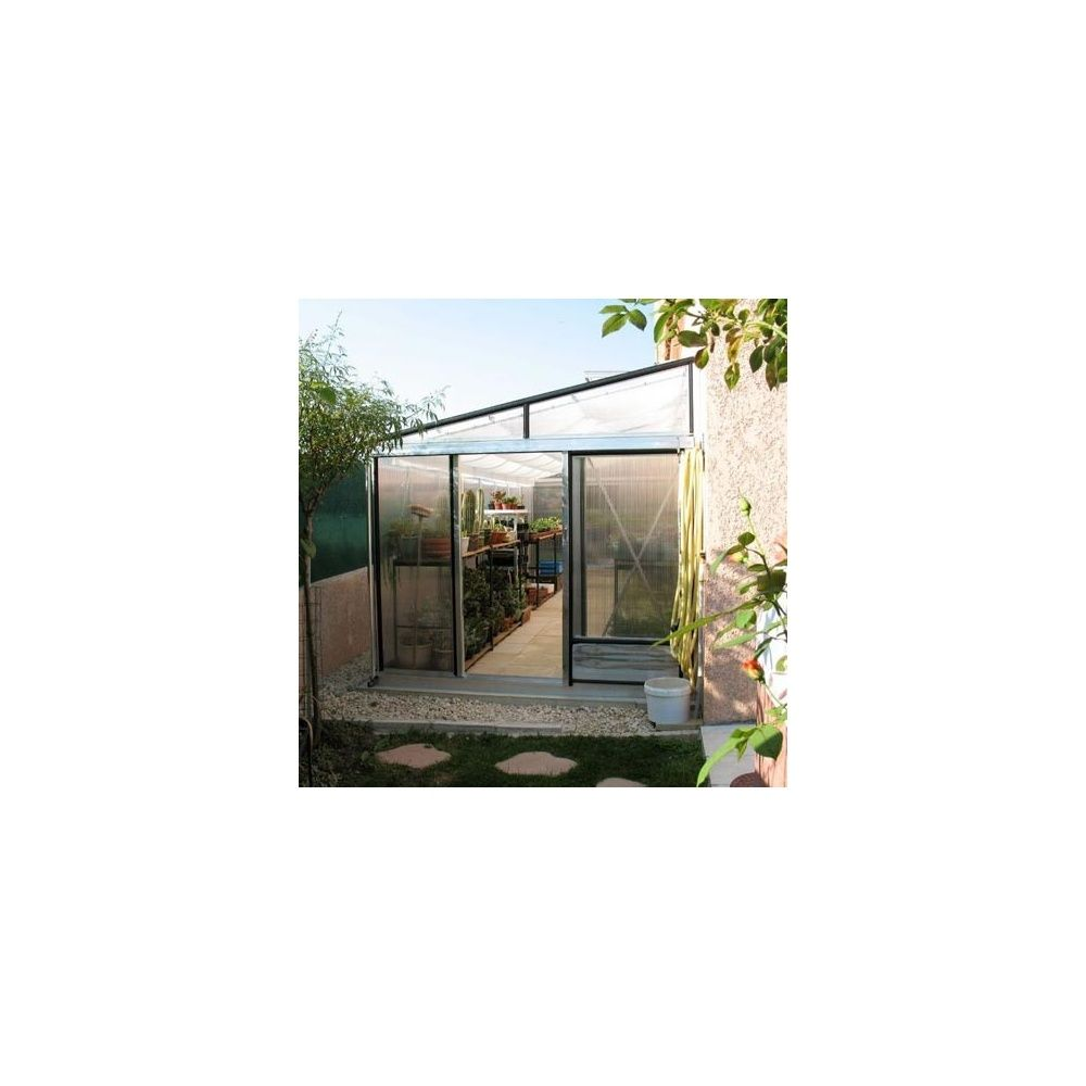serre adoss e tropic murale 11 8m2 polycarbonate plantes et jardins. Black Bedroom Furniture Sets. Home Design Ideas